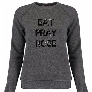 Bow & Drape sequin sweatshirt